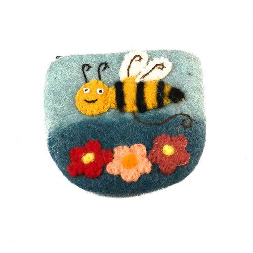Pretty Craft Bee small Purse Felt 13