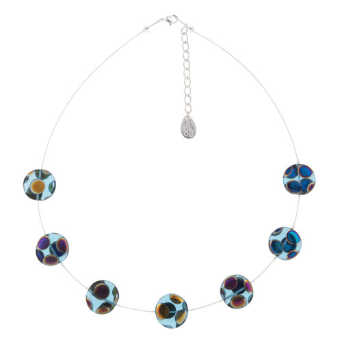 Carrie Elspeth Collar Charco Turquesa Dotty Full