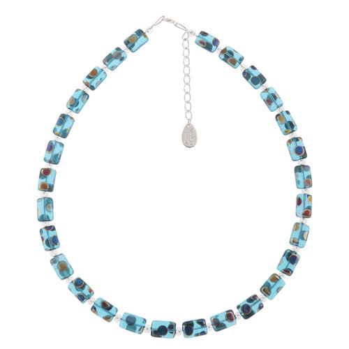 Carrie Elspeth Necklace Turquoise Dotty Full