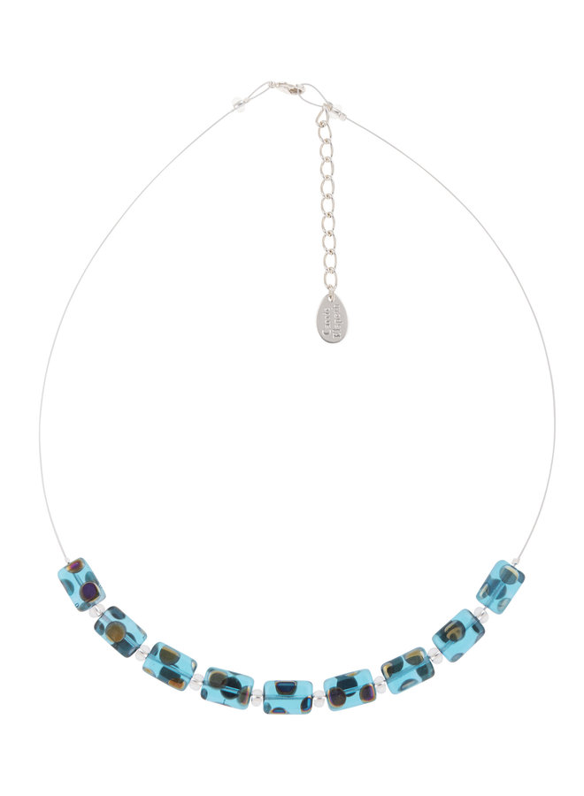 Necklace Turquoise Dotty  Links