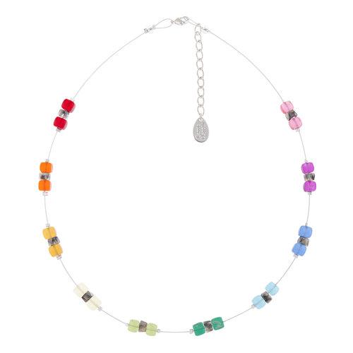 Carrie Elspeth Collar Rainbow Sparkle Spaced