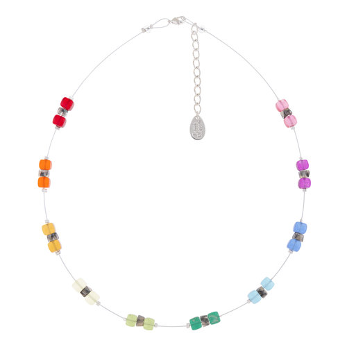 Carrie Elspeth Necklace Rainbow Sparkle Spaced