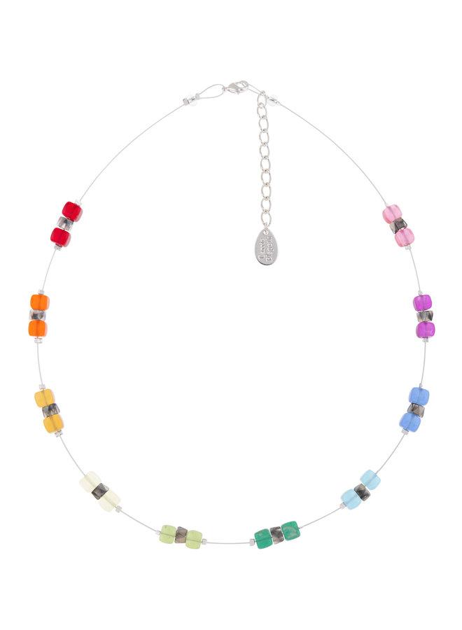 Halskette Rainbow Sparkle Spaced