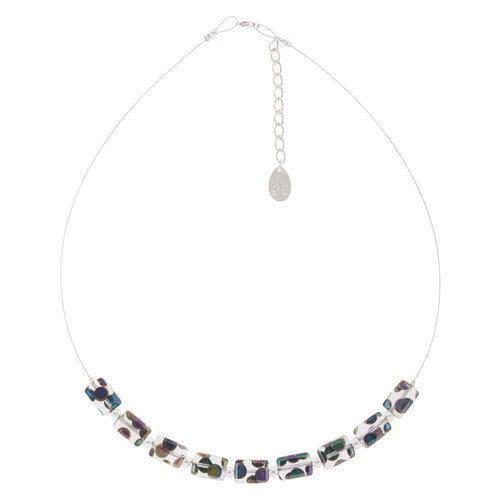Carrie Elspeth Necklace Clear  Dotty  Links