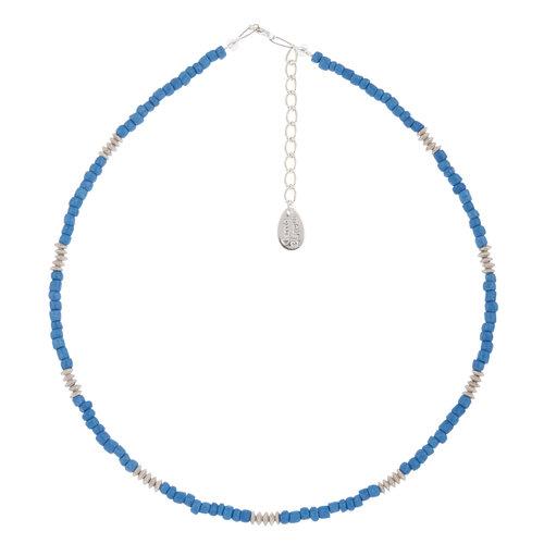 Carrie Elspeth Necklace Cobalt Blue  Funky Glass Seeds
