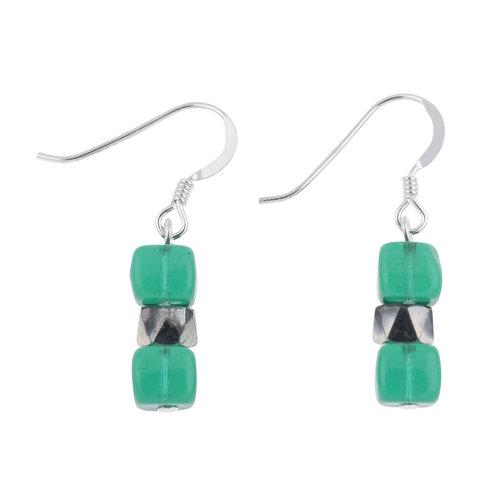Carrie Elspeth Earrings Teal  Sparkle 011