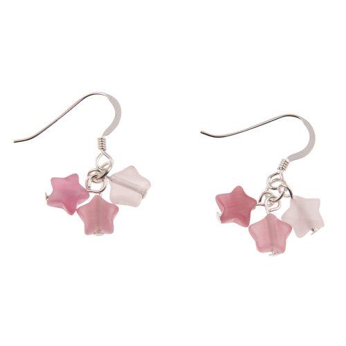 Carrie Elspeth Earrings Pink Stars 016