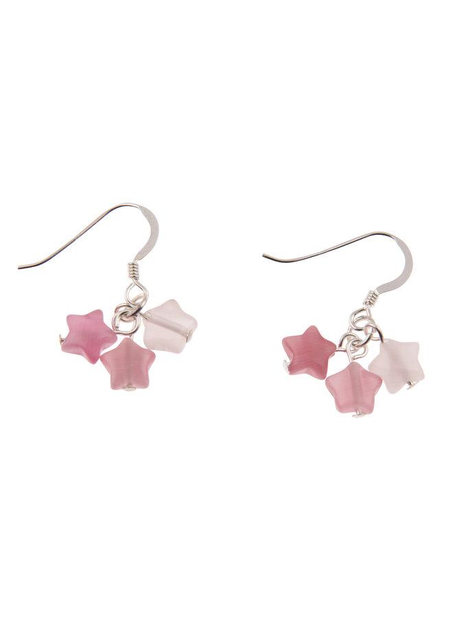 Ohrringe Pink Stars 016