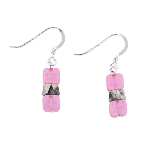 Carrie Elspeth Pendientes Pink Sparkel 015