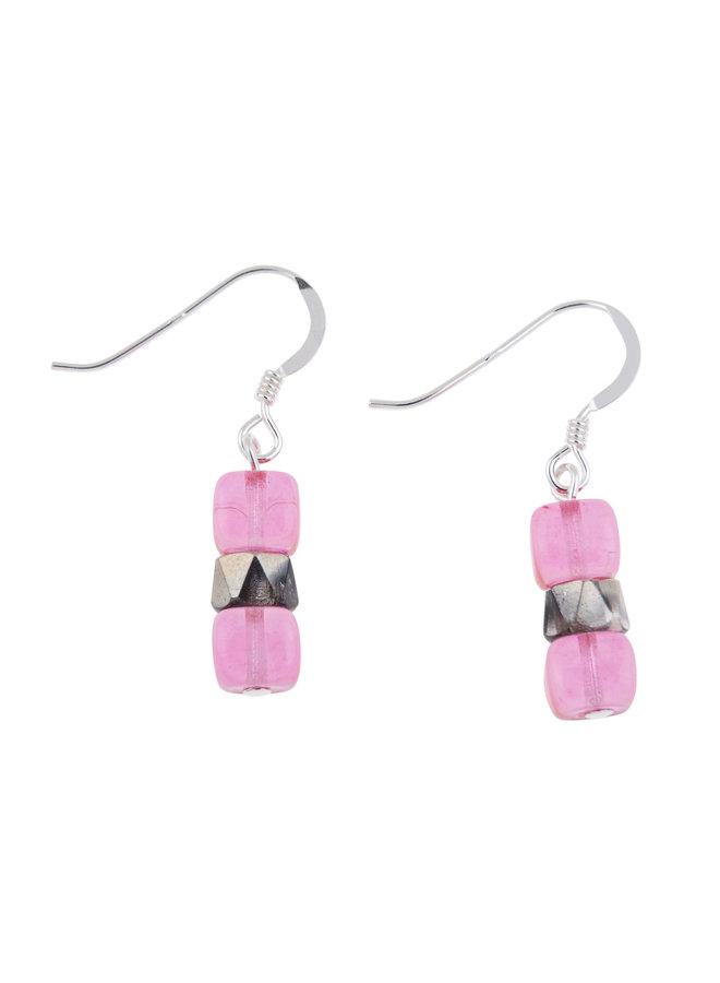 Ohrringe Pink Sparkel 015