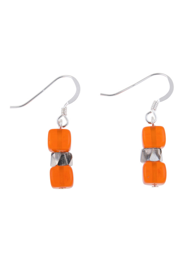 Ohrringe Orange Sparkle 007