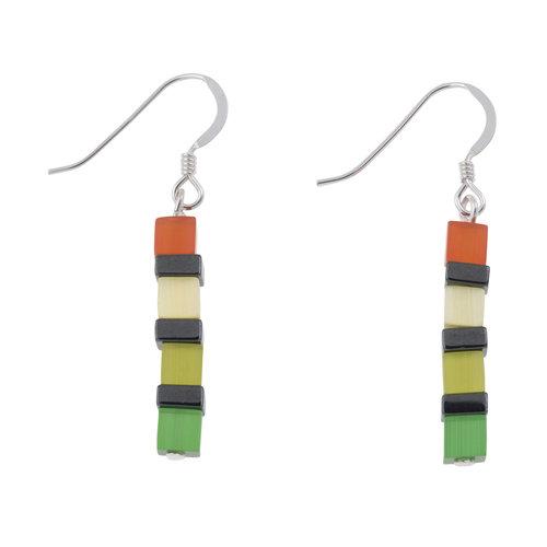 Carrie Elspeth Earrings Night-time Cats Eye Multicolour 018