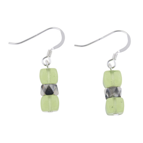 Carrie Elspeth Earrings Lime  Sparkle 010