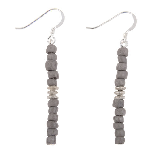 Carrie Elspeth Earrings Grey Funky Seeds 002