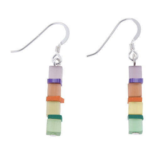 Carrie Elspeth Earrings Day-time Cats Eye Multi cubes 019