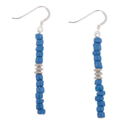 Carrie Elspeth Pendientes Cobalt Blue Funky Seeds 003