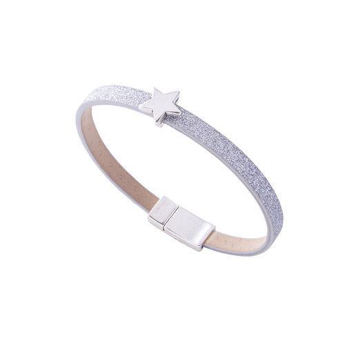 Carrie Elspeth Silver Sparkle Star charm Bracelet