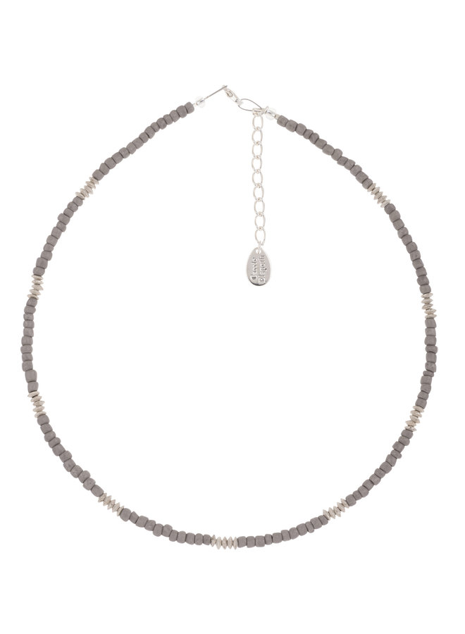 Halskette grau Funky Glassamen