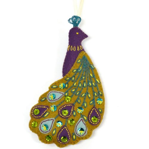 Corinne Lapierre Peacock Felt  Embroidery Craft  Kit