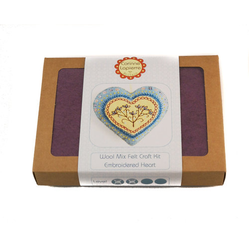 Corinne Lapierre Heart Felt  Embroidery Craft  Kit