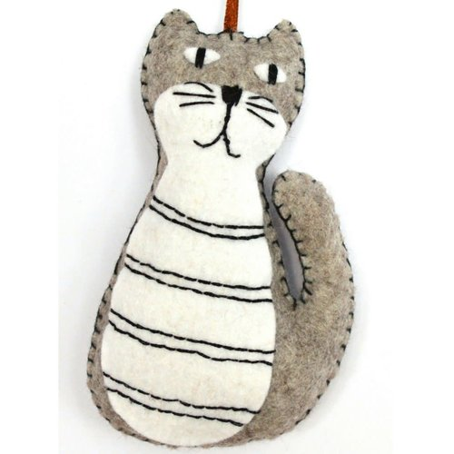 Corinne Lapierre Grey Cat Felt  Craft Mini Kit
