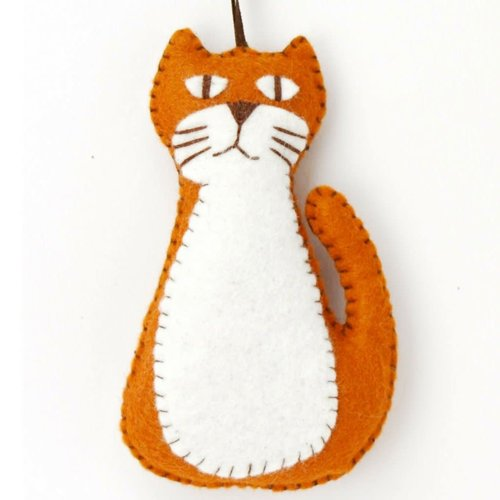 Corinne Lapierre Ginger Cat Felt  Craft Mini Kit