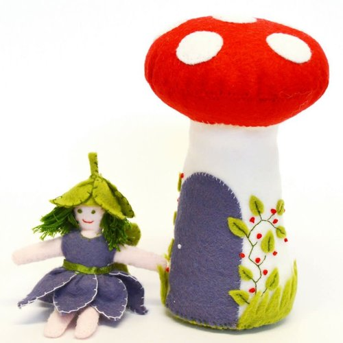 Corinne Lapierre Flower Fairy & Toadstool Felt  Embroidery Craft  Kit