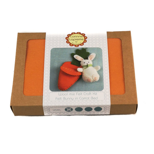 Corinne Lapierre Bunny in Carrot Bed Felt  Craft Mini Kit