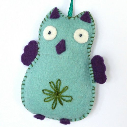 Corinne Lapierre Blue Owl Felt  Craft Mini Kit