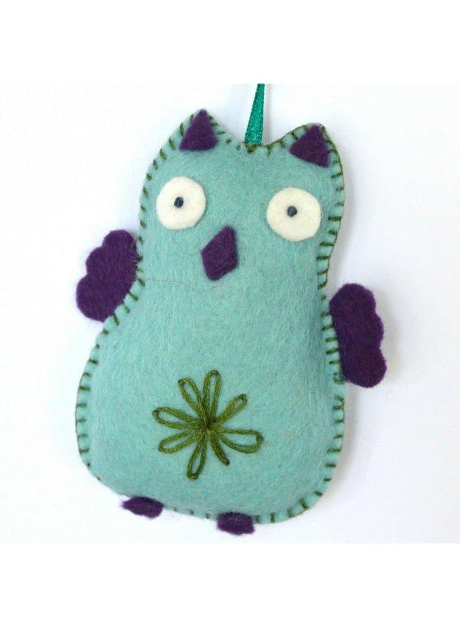 Blue Owl Felt  Craft Mini Kit