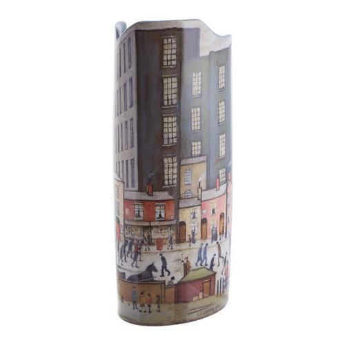 Dartington Crystal Ltd Lowry viene del molino Silhouette Art Vase 019