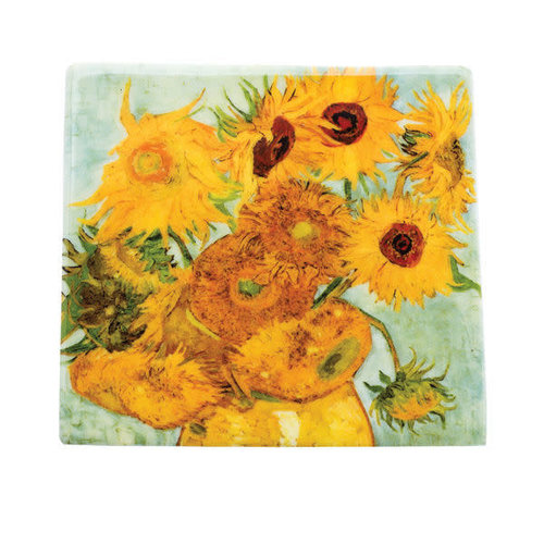 Dartington Crystal Ltd Van Gogh Sunflowers  Ceramic Coaster  046