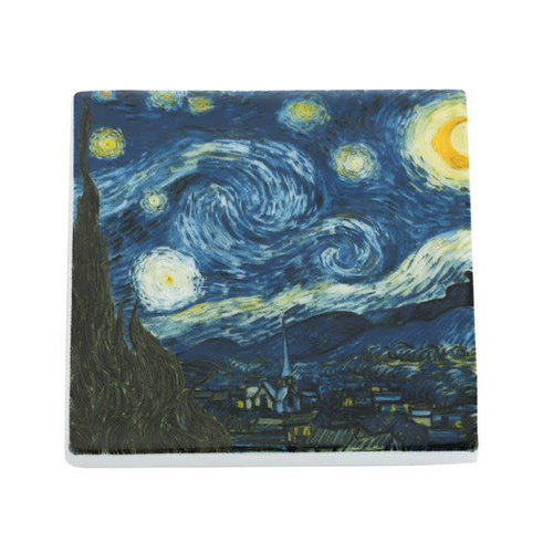 Dartington Crystal Ltd Van Gogh Stary Night Ceramic Coaster  045