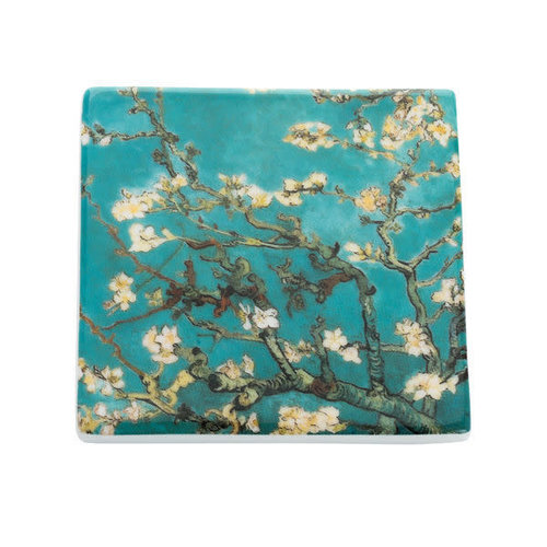 Dartington Crystal Ltd Van Gogh Almond Blossom  Ceramic Coaster  048