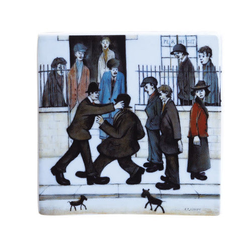 Dartington Crystal Ltd Lowry The Fight Ceramic Coaster 053