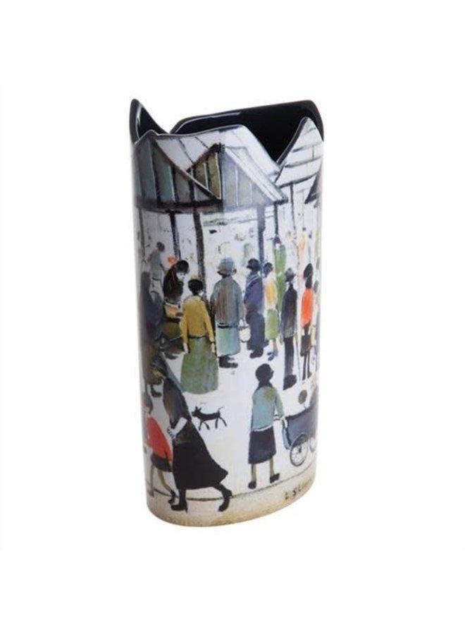 Lowry Marktszenen-Schattenbild Art Vase 021