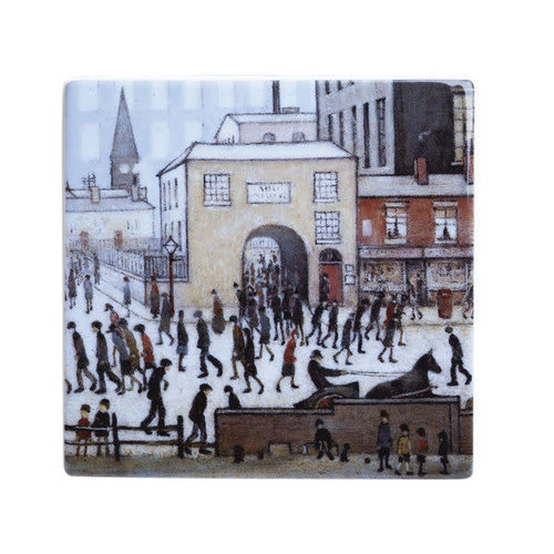 Dartington Crystal Ltd Lowry Coming from the Mill Ceramic Coaster 051