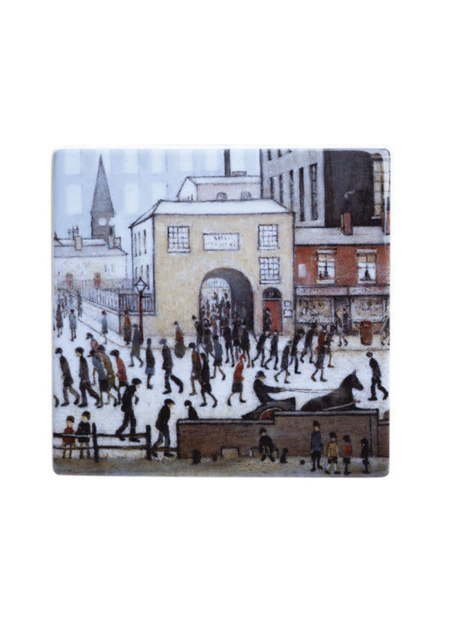 Lowry Coming from the Mill Ceramic Coaster 051