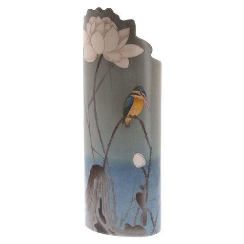 Dartington Crystal Ltd Eisvogel auf Barsch-Schattenbild Art Vase 042