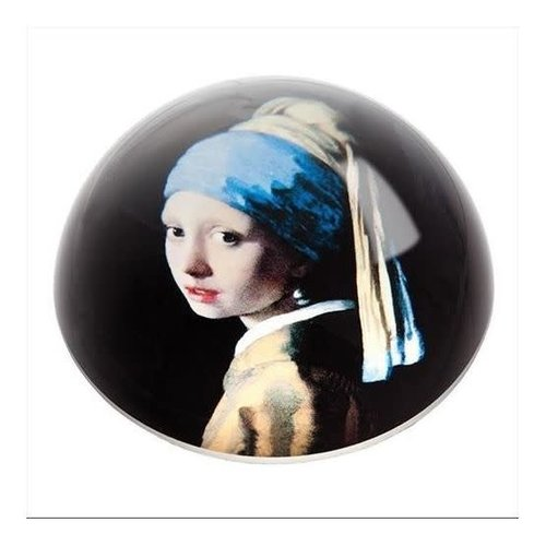 Dartington Crystal Ltd Vermeer Chica con arete de perla Pisapapeles 095