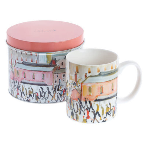 Dartington Crystal Ltd Lowry Going to Work Art  Mug in a Tin 075