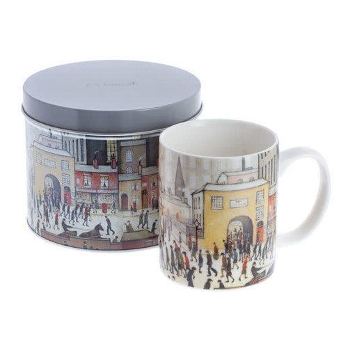 Dartington Crystal Ltd Lowry viene de la taza de arte Mill en una lata 077