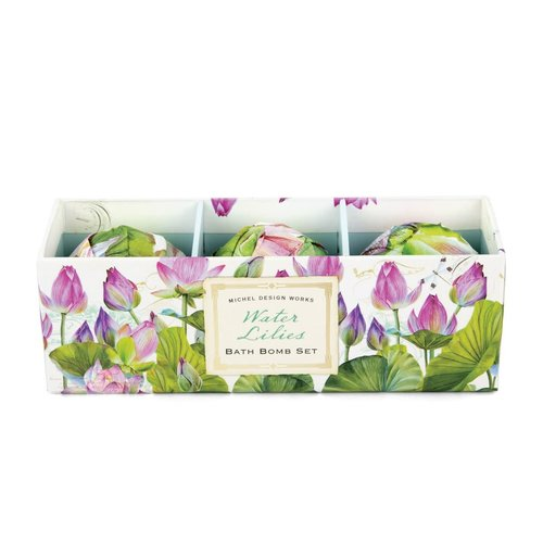 Michel Design Works Water Lily Bath Bomb 3 Set