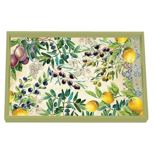 Michel Design Works Tuscan Grove  Vanity Decoupage Wooden Tray