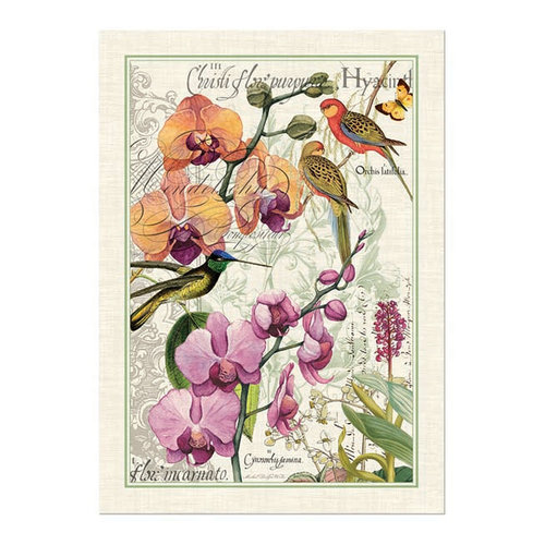 Michel Design Works Orchids in Bloom Kitchen Towel