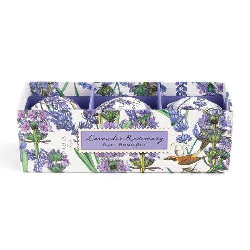 Michel Design Works Lavender & Rosemary  Bath Bomb  3 Set