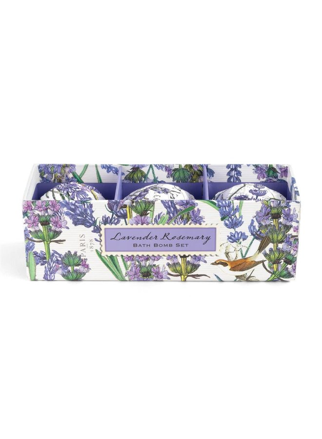 Lavendel & Rosmarin Badebombe 3er Set
