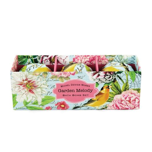 Michel Design Works Garden Melody Bath Bomb  3 Set