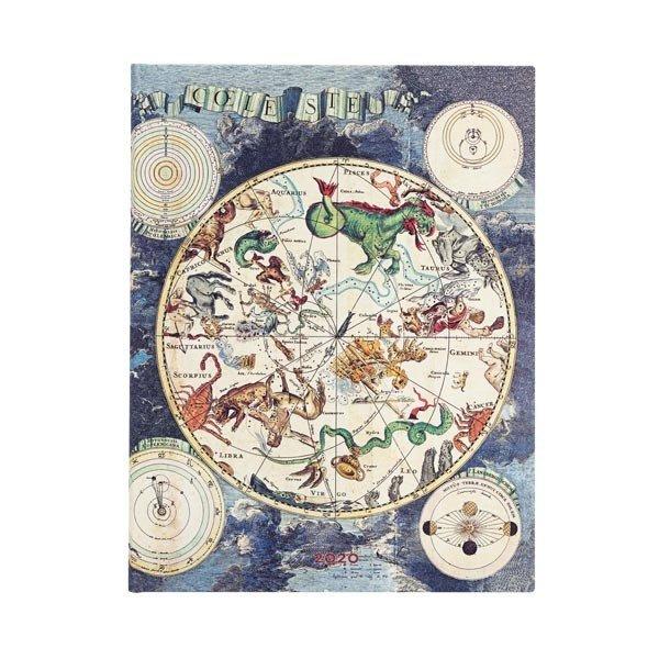 2020 Celestial Planisphere Midi Weekly Diary Flexicover