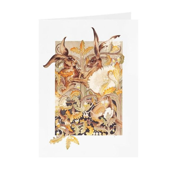 Boxing Hares  card 09